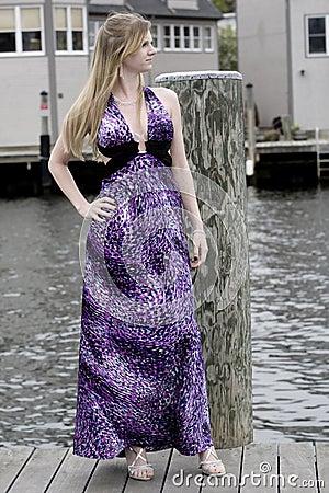 Teen on a dock
