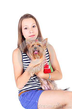 Teen and dog