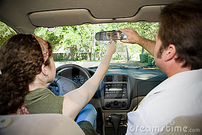 Teen Driver - Adjusting Mirror