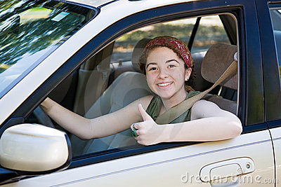 Teen Driver Thumbs Up