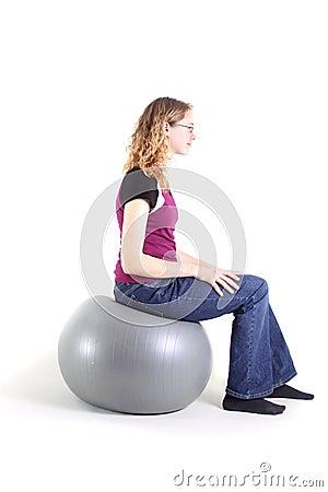 Teen Exercising