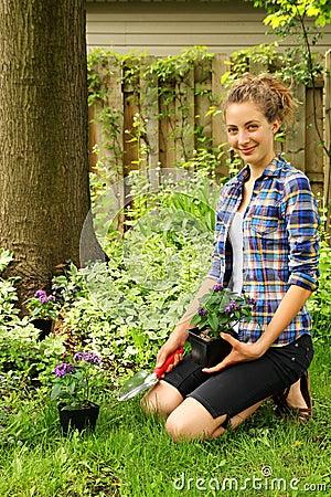 Teen gardening