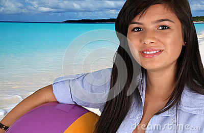 Teen Girl At Beach