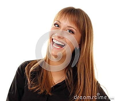 Teen girl beautiful young smiling tan