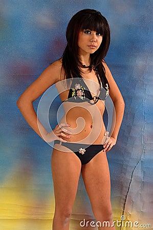 Teen girl in bikini
