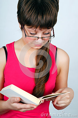 Teen girl with book