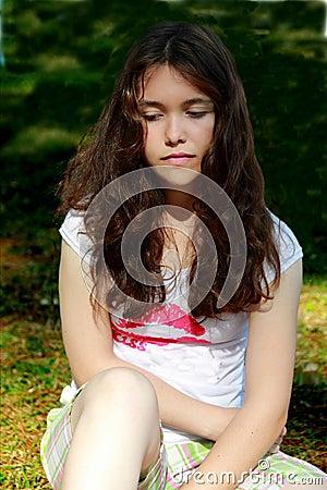 Teen girl depressed