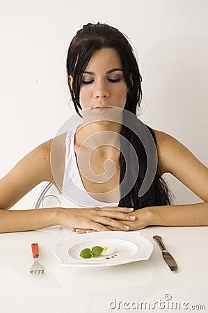 Teen girl on diet