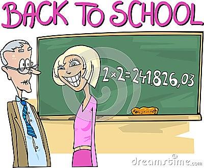Teen Girl doing Mathematics Task