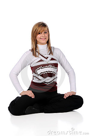 Teen Girl in Drill Team Uniform