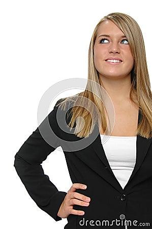 Teen girl on formal attire