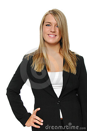 Teen girl on formal attire