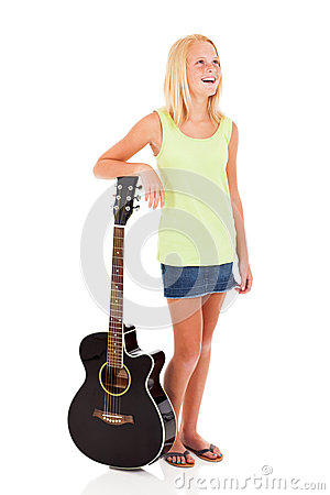 Teen girl guitar