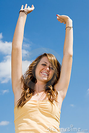 Teen Girl Happiness Royalty Free Stock Photo - Image: 4426775