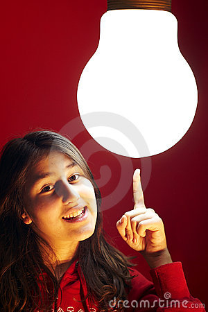 Teen Girl Has The Greatest Idea Stock Images - Image: 4935344