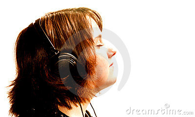 Teen Girl with Headphones