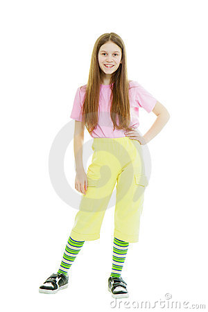 Teen Girl On The Isolated White Background Stock Photos - Image: 19551113