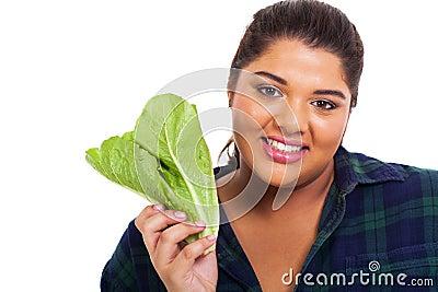 teen girl lettuce