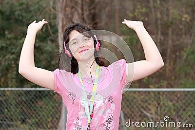 Loving music girl