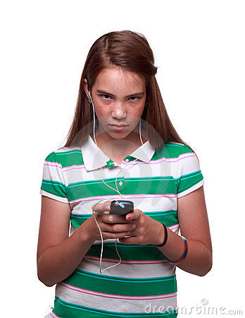 Free Teen Girl Listing To Music Royalty Free Stock Photo - 20796775
