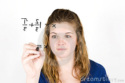 Teen girl math
