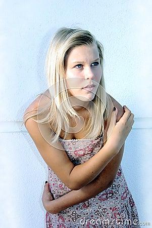 Teen girl model shot