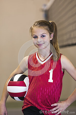 Free Teen Girl On Volleyball Court Royalty Free Stock Photos - 38926718