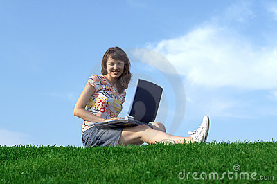 Teen girl in outdoor study