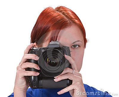 Teen girl photographer