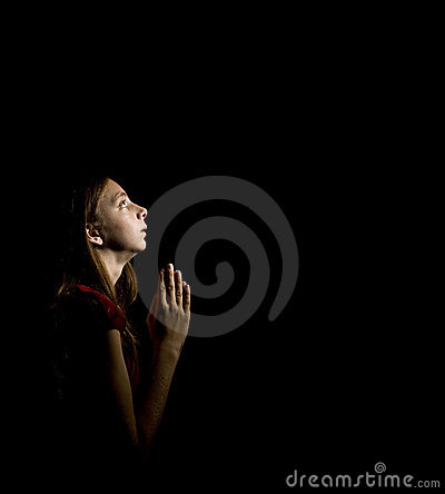 Teen Girl at Prayer