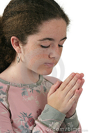 Teen Girl Praying 2