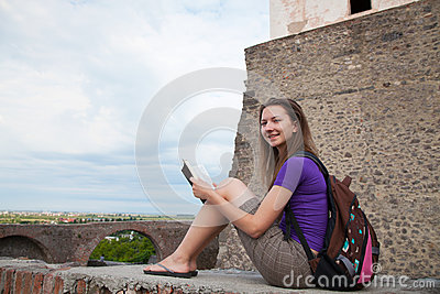 Teen girl reading the Bible