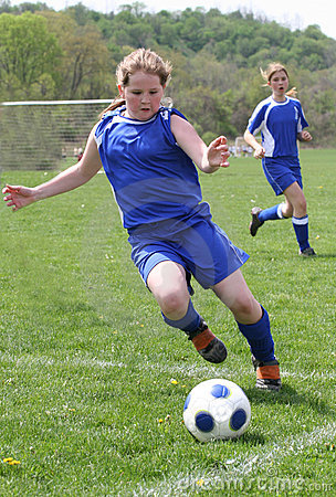 Teen Girl Soccer Player In Action 2