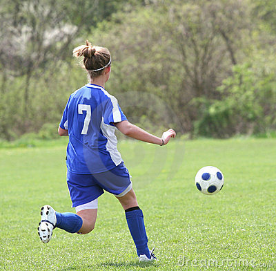 Teen Girl Soccer Player In Action 5