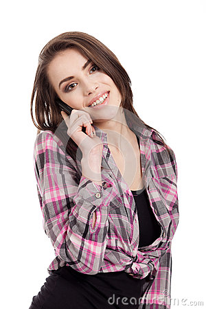 Teen girl talking on the phone