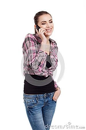 Teen girl talking on the phone