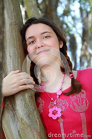 Teen girl tree