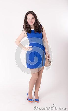 Free Teen Girl With Handbag Stock Image - 136568511
