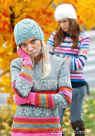 Free Teen Girls Having Problems Royalty Free Stock Image - 21834586