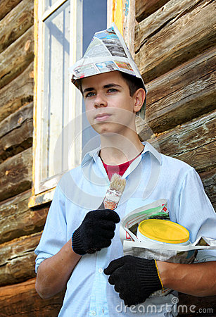 Young house painter