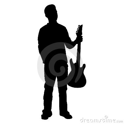 Teen Guitar Player - Silhouette