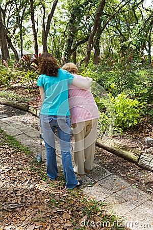 Free Teen Helping Senior Stock Images - 5182204