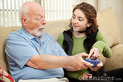 Teen Helps Grandpa