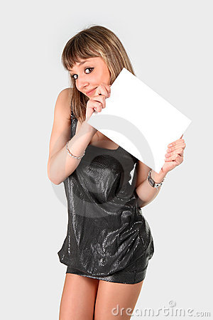 Free Teen Holding Banner Royalty Free Stock Photos - 13282768
