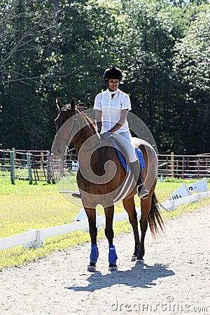 Teen on horseback