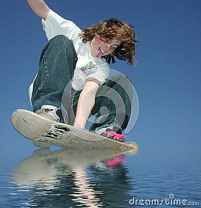 Teen hydroplaning