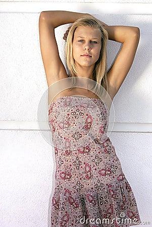 Teen lady model shot