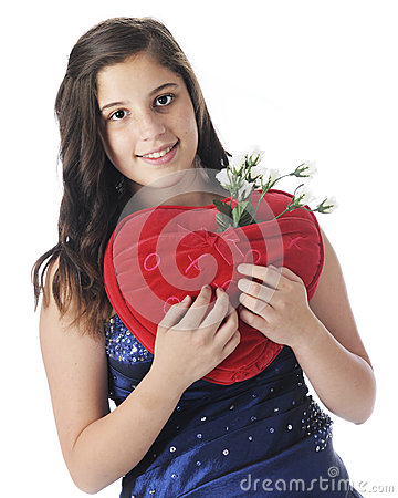 Teen with Loving Pillow