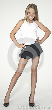 teen modeling fashion in studio royalty free stock photos