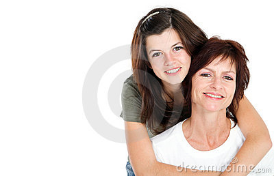 Teen and mom